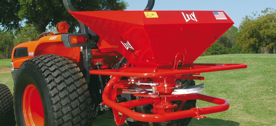 Compact Tractor Seeder : Compact commercial broadcast spreader lely model hr